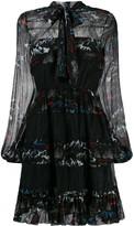 Pinko Printed Pussybow Dress