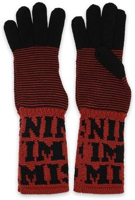 Missoni Two-tone Intarsia Wool Gloves