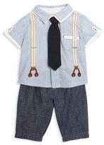 Miniclasix Baby's Two-Piece Casually Cool Shirt & Pants Set