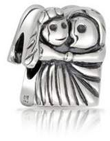 Bling Jewelry Bride And Groom Wedding Charm Sterling Silver Couple Love Bead For Bracelet.