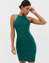 Paper Dolls lace midi dress in emerald green