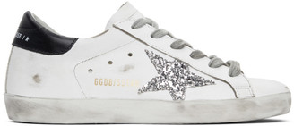 Golden Goose SSENSE Exclusive White and Black Superstar Sneakers