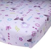 Lambs & Ivy Butterfly Lane Fitted Crib Sheet