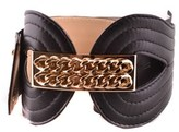 Elisabetta Franchi Women's Black Leather Belt.