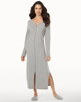 Soma Intimates Long Zip Cashmere Robe Heather Grey