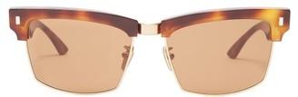 Celine Square Tortoiseshell-acetate Sunglasses - Brown
