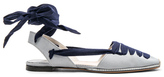 Altuzarra for FWRD D'Orsay Flat Espadrilles in Blue.