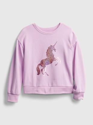 Gap Kids Flippy Sequin Crewneck Sweatshirt