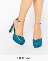 Terry De Havilland Direction Teal Heeled Shoes