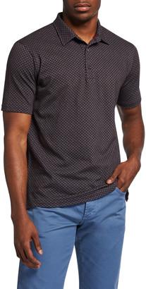 Isaia Men's Floral Pique Polo Shirt