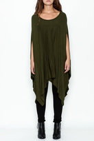 Got Style Olive Sleeveless Poncho