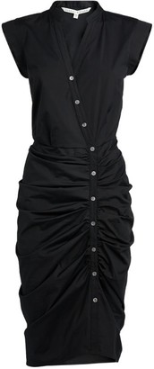 Veronica Beard Ruched Asymmetric Mini Dress