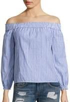 Rag & Bone Drew Striped Cotton Off-The-Shoulder Top