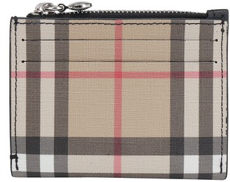 Burberry Vintage Check Zipped Card Case