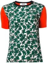 MSGM roses print T-shirt - women - Cotton - M