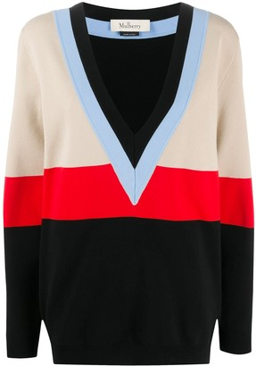 Mulberry Lilly colour-block jumper