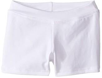 Capezio Team Basic Boycut Low Rise Shorts (Little Kids/Big Kids) (White) Girl's Shorts