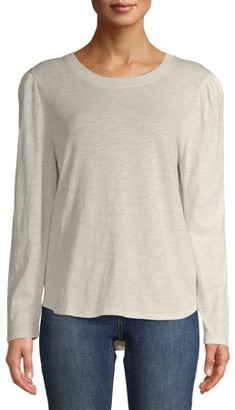 Time and Tru Women's Puff Sleeve Top