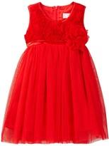 Popatu Soutache Empire Dress with Rosettes (Little Girls)