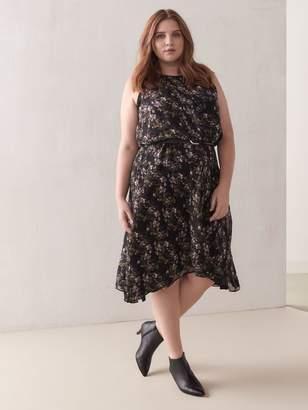 Floral Blouson Midi Dress - RACHEL Rachel Roy