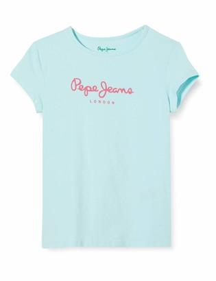 Pepe Jeans Girl's Hana Glitter Ss T-Shirt