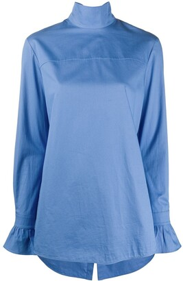 Victoria Victoria Beckham Convertible Scarf Detail Blouse