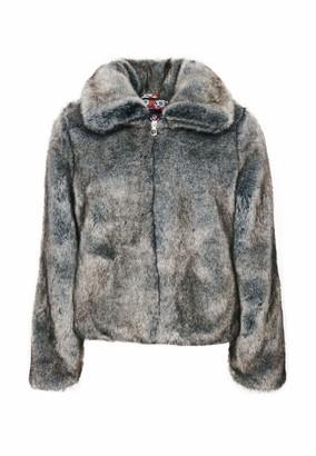 Superdry Women's Boho Faux Fur Jacket Coat