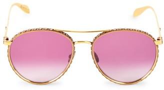Alexander McQueen 58MM Embellished Aviator Sunglasses