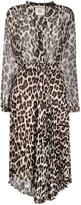 Semi-Couture Leopard-Print Shirt Dress