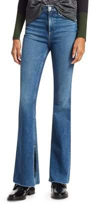 Rag & Bone Bella High-Waist Flared Split Hem Jeans