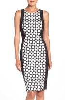Adrianna Papell Dot Jacquard Sheath Dress