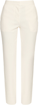 Cédric Charlier High-waisted ribbed-jersey trousers