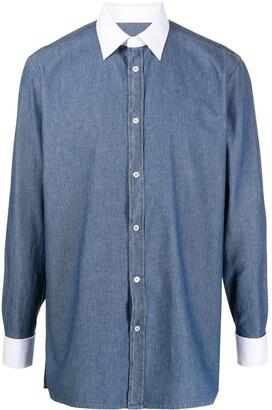 Maison Margiela Contrast Collar Chambray Shirt