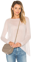 Autumn Cashmere Hanky Hem Boatneck Sweater in Pink. - size XS (also in )