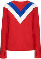 Tory Sport Chevron Stretch-jersey Top