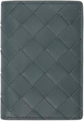 Bottega Veneta Grey Intrecciato Bifold Card Holder