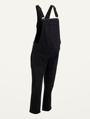 Old Navy Maternity Side-Panel Black Jean Overalls