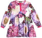 Roberto Cavalli Floral Printed Cotton Interlock Dress