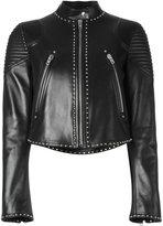Givenchy studded cropped jacket - women - Lamb Skin/Acetate/Viscose - 38