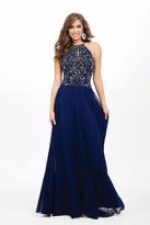 Jovani Halter Neck Chiffon Prom Dress JVN33700