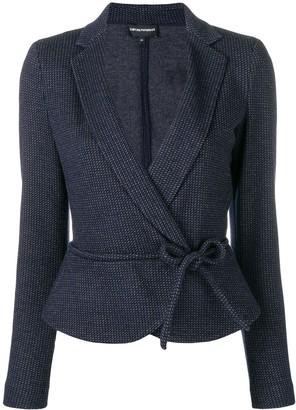 Emporio Armani Jacquard Tie Waist Jacket