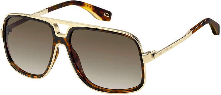 Marc Jacobs Acetate & Metal Aviator Sunglasses