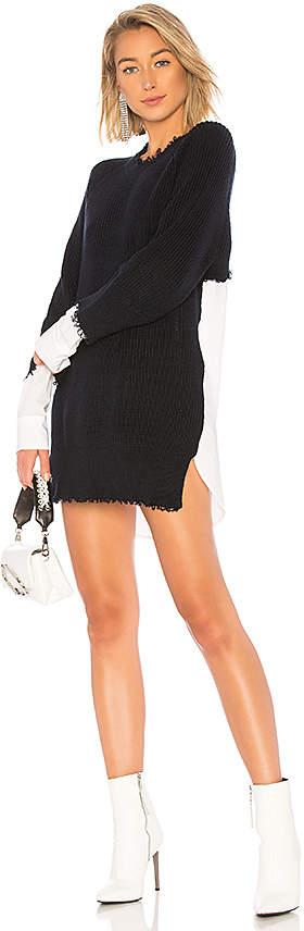 Alexander Wang Poplin Sweater Dress