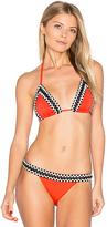 Sauvage Woven Trim Triangle Bikini Top