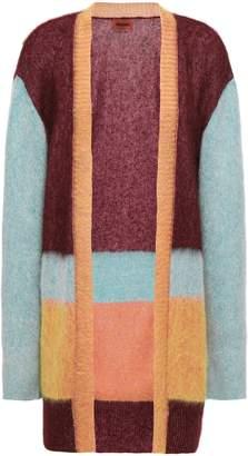Missoni Brushed Striped Intarsia-knit Cardigan