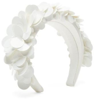 Prada Sequinned Satin Headband - White