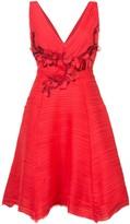 Marchesa pleated cocktail dress