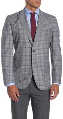 David Donahue Ashton Grey Plaid Two Button Notch Lapel Suit Separates Jacket