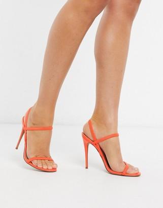 Steve Madden Gabriell strappy heeled sandals in orange