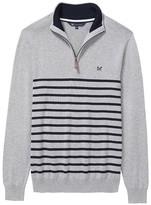 Crew Clothing Classic Half Zip Stripe Knit
